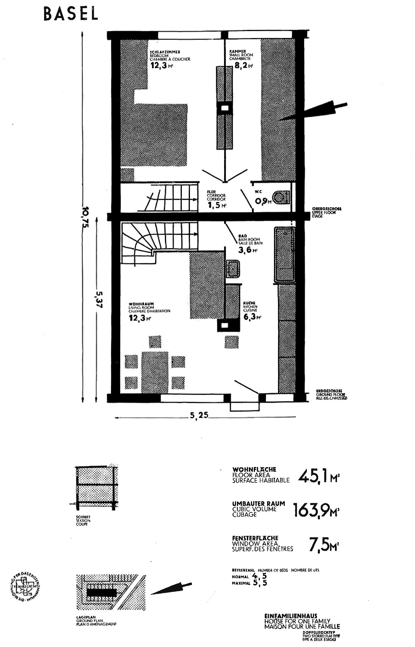 Grundriss Haustyp Artaria & Schmidt